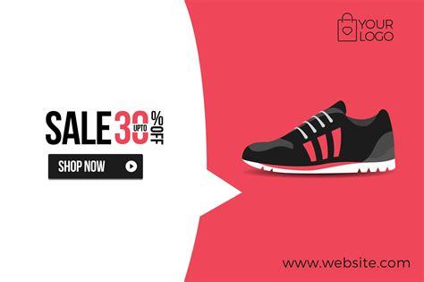 shoe sale flat product sale shoe banner web elements creative market