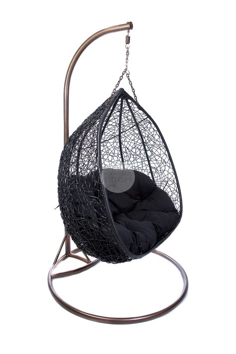 black egg chair outdoor hanging egg chair black buy hanging egg chairs