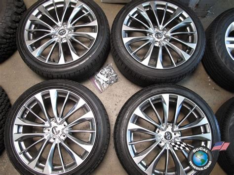 infiniti factory wheels four 2011 infiniti g37s g37 factory 19 wheels tires oem