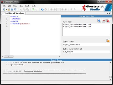 compress pdf ghostscript linux converter convert all files in a folder from pdf to pcl