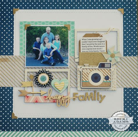 scrapbook layout process happy family layout process video st scrapbook expo