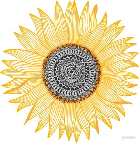 sunflower mandala tattoo golden mandala sunflower sticker by paviash mandala