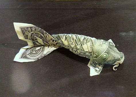 Koi Fish Dollar Origami - dollar origami koi i fishes