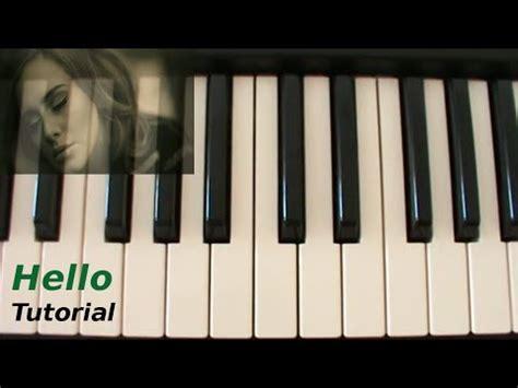 hello keyboard tutorial adele ita hello adele tutorial piano youtube