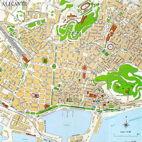 map of alicante city index of imapa inmonacional images