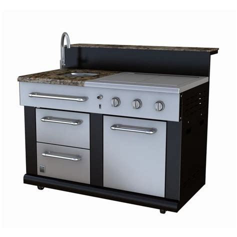 Master Forge Sink master forge 3 burner modular outdoor kitchen sink and side burners lowe s canada for the