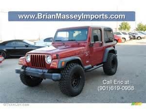 1999 chili pepper pearlcoat jeep wrangler sport 4x4