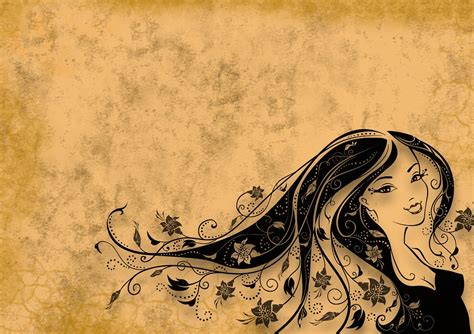 imagenes vintage sepia free illustration woman hair background sepia free