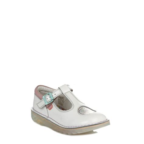 Jr Wedges Shoes 169 59 kickers white kick t bar leather shoes buckle casual sandals 113315 ebay