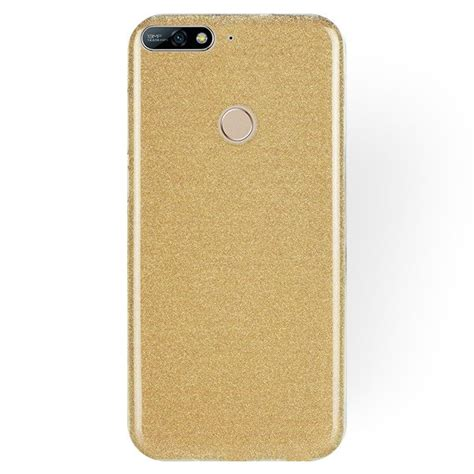 forcell glitter shine cover gold huawei y7 prime 2018