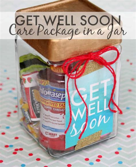 get well soon gift in a jar happy go lucky