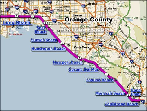 San Francisco To Los Angeles Via Pch - image gallery pch map