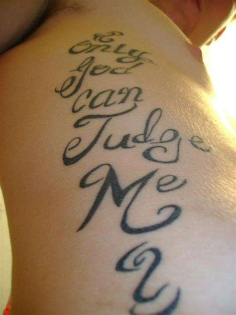 only god can judge me tattoo with cross only god can judge me