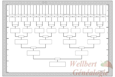 10 Generation Family Tree Template family tree template 6 generations printable empty to fill in oneself wellbert g 233 n 233 alogie