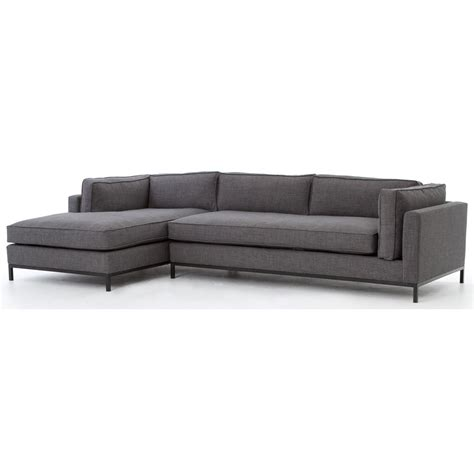 2 pc sectional with chaise four hands atelier grammercy 2 pc sectional left arm