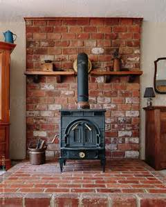 Brick Fireplaces For Wood Burning Stoves by Wood Burning Stove Hearth Ideas Wood Stove On Brick