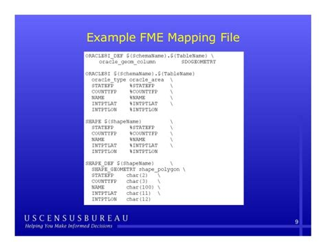 tutorial oracle spatial using fme to convert tiger spatial data from oracle