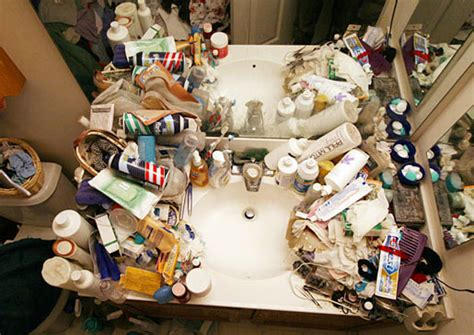 cluttered bathroom clear bathroom clutter with organizational expert justin klosky lifeedited