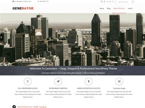 Generator Theme Demo | 60 free business wordpress themes 2018