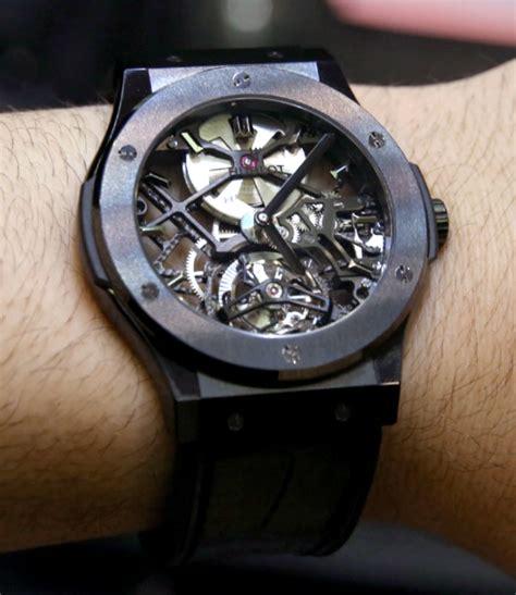 Bulgari Turbilon Leather Silver Otometic hublot classic fusion skeleton tourbillon 45mm watches