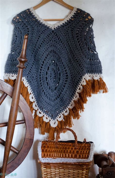 poncho para ni a en crochet y agujas circulares tricot mar 237 a cielo ponchos tejidos crochet y dos agujas
