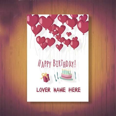 Create Birthday Card With Name And Photo Online Create Happy Birthday Wishes Cards For Lover