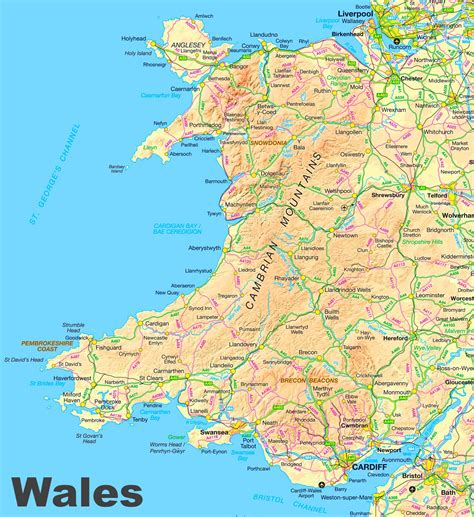 printable road map of england and wales wales road map