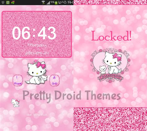 pretty droid themes go keyboard apk pretty droid themes charmmy kitty glam d up go launcher