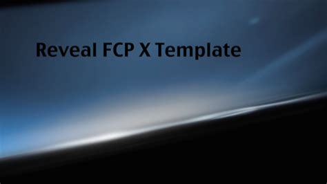 fcp templates productions professional cut pro x templates