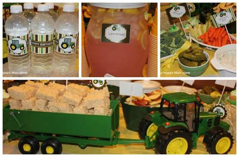 john deere themed birthday party john deere tractor party tons of food ideas love the