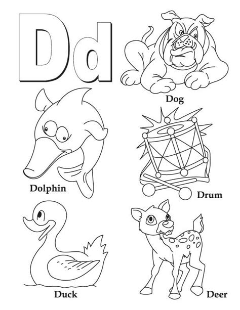 Alphabet D Coloring Pages by My A To Z Coloring Book Letter D Coloring Page