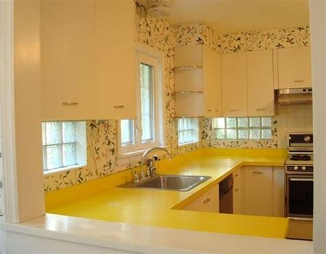 Yellow Kitchen Countertops by Vintage Kitchen With Yellow Countertops Vintage Kitchen