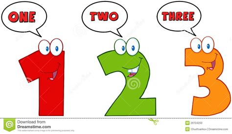 three one numbers one two and three stock photo image 26104200