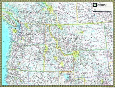 road map of northwestern usa northwestern united states atlas wall map maps