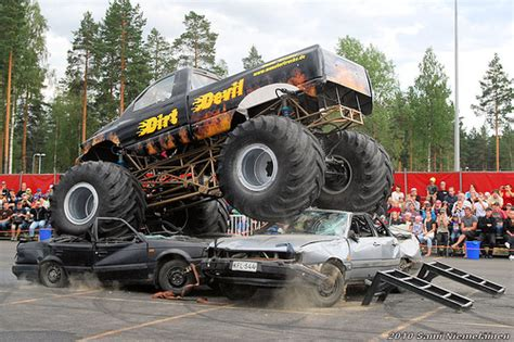 monster truck stunt show traber monster trucks stunt show flickr photo sharing