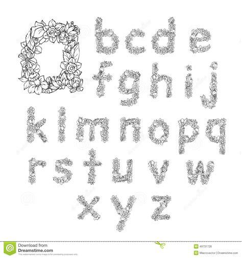 lettere minuscole lettere minuscole di alfabeto fiore illustrazione