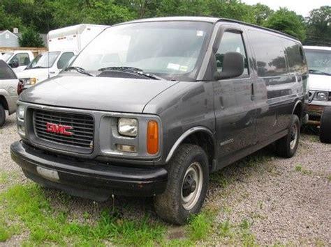buy used 1998 gmc 3500 savana cargo van turbo diesel no reserve needs trans good engine in