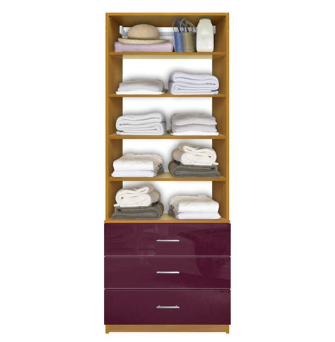 Closet Organizers With Drawers And Shelves Isa Custom Closet Organization Unit 3 Drawers 4