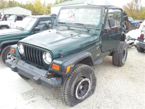 2000 Jeep Parts 2000 Jeep Wrangler Sport Green