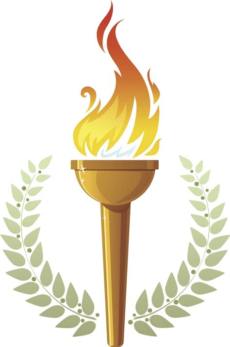 Winter Olympic Torch Clipart   ClipartXtras