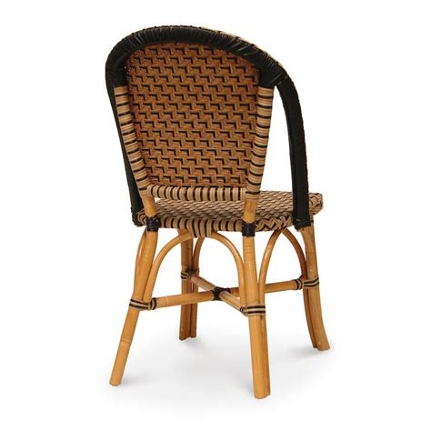 rattan patio chairs palecek patio bistro chair 7533