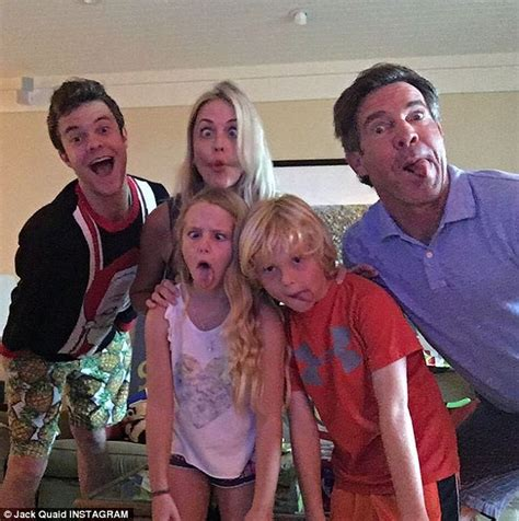 dennis quaid and his brother dennis quaid s son jack posts photo posing with his dad