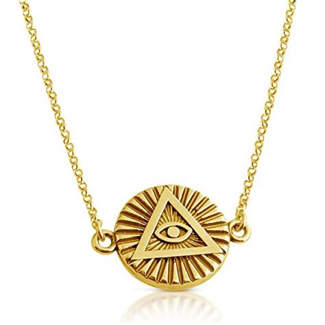 illuminati necklace illuminati all seeing eye of providence sideways pendant