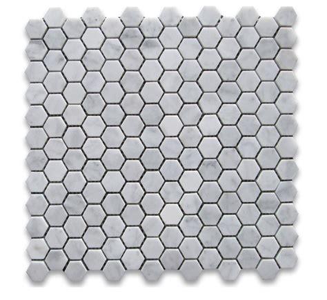 bianco white carrara marble 1 hexagon honed mosaic tile