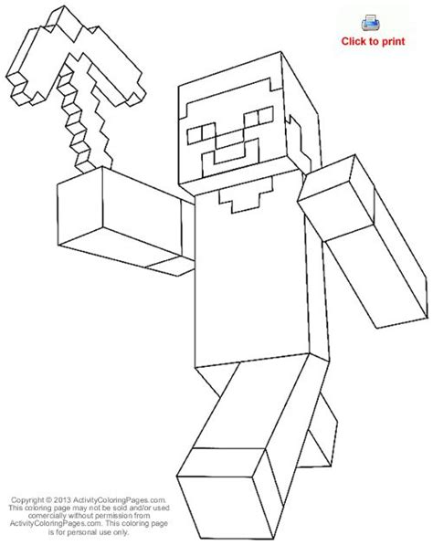 minecraft steve coloring pages free steve from minecraft coloring page free coloring pages