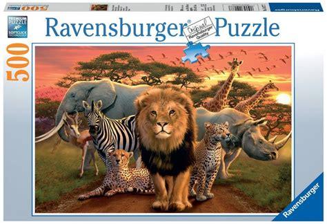 jigsaw puzzle 500 pieces african safari ravensburger