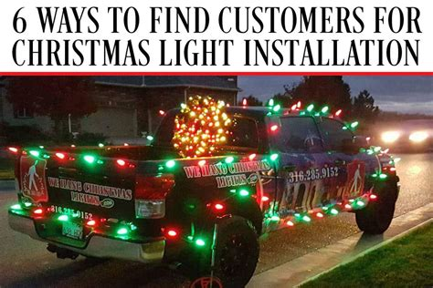 6 ways to find customers for christmas light installation