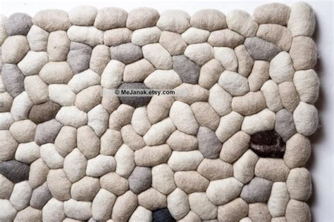 wool pebble rug wool felt pebble rug house dreamer