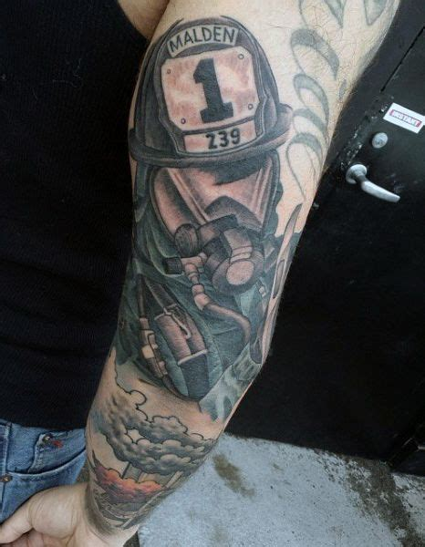 firefighter tattoos for men s firefighter half sleeve tattoos tatou