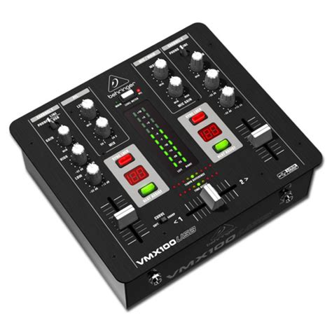 Mixer Behringer 2 Channel behringer pro vmx100usb professional 2 channel dj mixer at